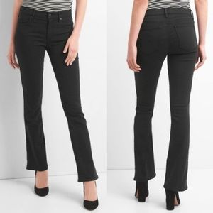Gap 1969 Black Stone Wash Perfect Boot Jeans